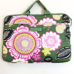 Vera Bradley Lined Soft Floral Lap Top Case
